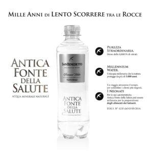 Acqua San Benedetto Millenium Water Naturale 400ml Bottiglia descrittiva